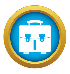 Diplomat bag icon blue isolated vector