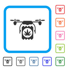 drugs drone delivery framed icon vector image