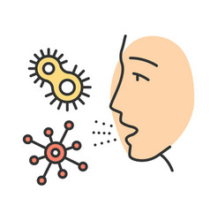 Dust allergy color icon vector