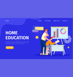 Education online at home vector