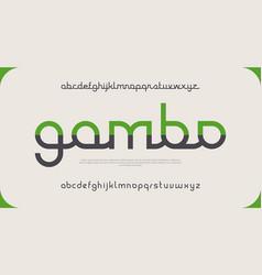 elegant minimal font modern typeface vector image