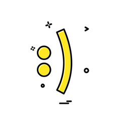 emoji icon design vector image