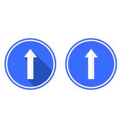 flat icon up arrow arrow button vector image