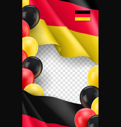 Germany horizontal flyer with copy space vector
