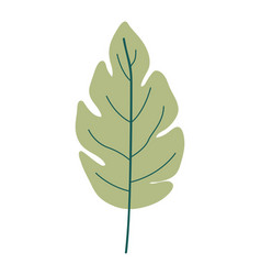 Green light color of lobed leaf plant vector