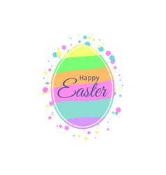 happy easter easter egg with multi-colored vector image