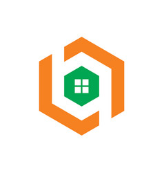 hexagon windows logo vector image