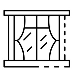 house window icon outline style vector image