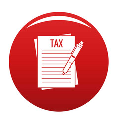 Income declaration icon red vector