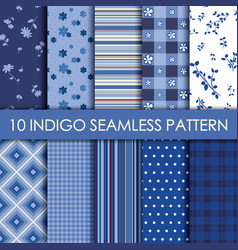 indigo collection background vector image