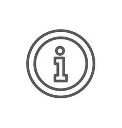 information service help sign line icon vector image