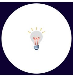 Lamp computer symbol vector