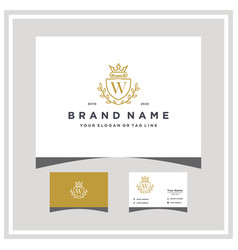 Letter w attorney shield logo design and business vector