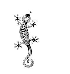 Lizard zenart for your design vector image
