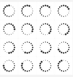 loading or preloaders icon set vector image