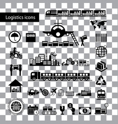 Logistics export icon set vector