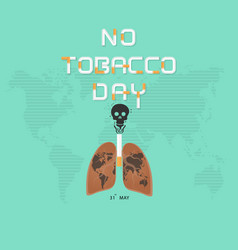 lung and cigarette icon with stop smoking logo vector image