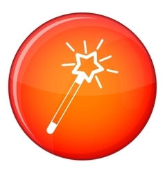 Magic wand icon flat style vector image