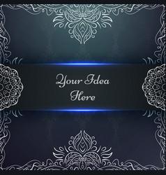 mandala mehendi - ethnic frame template vector image