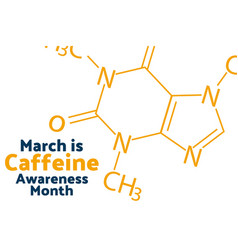 March is caffeine awareness month concept vector