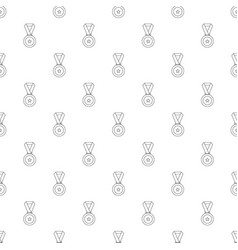 medal pattern seamless vector image