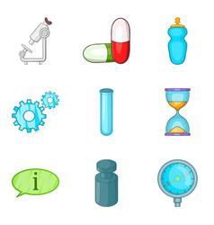 Medical prescription icons set cartoon style vector
