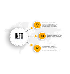Modern infographic template with three steps vector