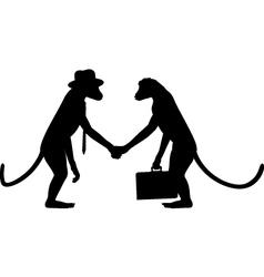 Monkey business vector image