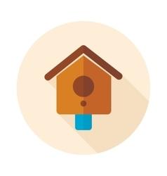 Nesting box bird-house flat icon vector