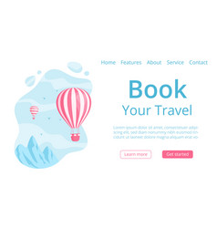 Online travel booking landing web page concept vector