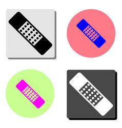 patch medicine flat icon vector image