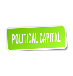Political capital square sticker on white vector