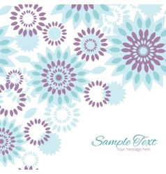 purple and blue floral abstract frame vector image