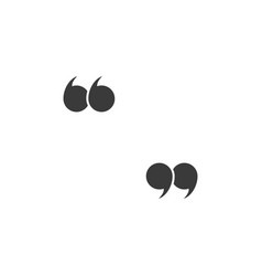 Quote marks quotes icon speech symbol black vector
