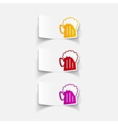 realistic design element beer vector image