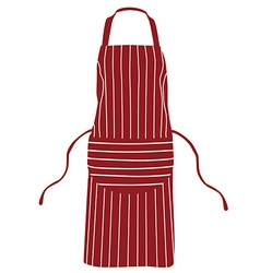 Red striped apron vector