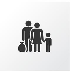 Refugee icon symbol premium quality isolated vector