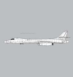 Rockwell b-1b lancer vector