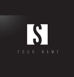s letter logo with black and white negative space vector image