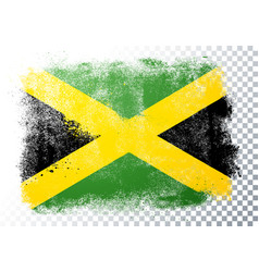 Scratched jamaica flag with grunge texture vector