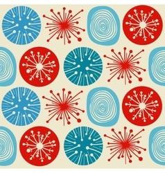 Seamless pattern in modern Scandinavian style vector image