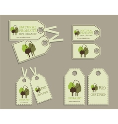 Set of Organic Labels for Natural Products vector image