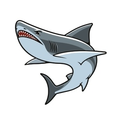 Shark for mascot tattoo or t-shirt print design vector