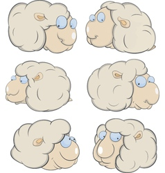 Sheep clouds cartoon vector image