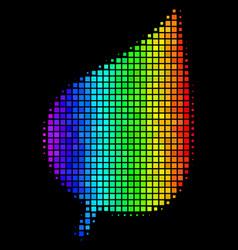 Spectrum dot plant leaf icon vector