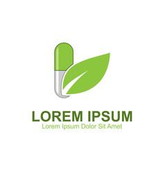 Supplement herb logo vector