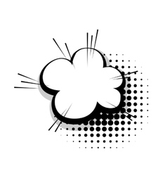 Template comic speech cloud line bubble vector