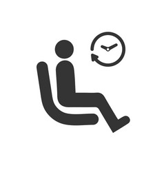 Waiting waiting room icon vector