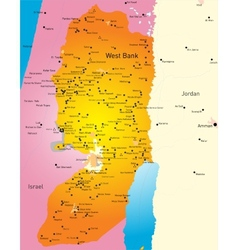 West Bank vector image