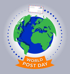 world post day or international postal day vector image